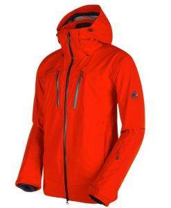 mammut ski jacket stoney red