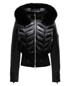 Toni Sailer Black Leather Ski Jacket