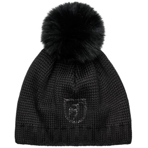 Beanie Fur Black Ski Hat